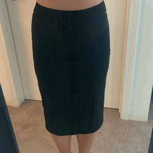 Classic pinstripe pencil skirt